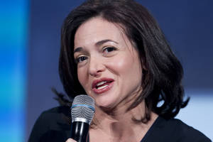 Photo - FILE - In this Sept. 24, 2013, file photo, Sheryl Sandberg, the Chief Operating Officer of Facebook, speaks at the Clinton Global Initiative in New York. Sandberg says the key to tapping into the lucrative small business market is showing business owners how to find new customers by creating Facebook pages and buying ads that appear on individual Facebook users' pages. The company plans a campaign called Facebook Fit with workshops in five cities to show owners the nuts and bolts of using Facebook as a marketing tool. (AP Photo/Mark Lennihan, File)