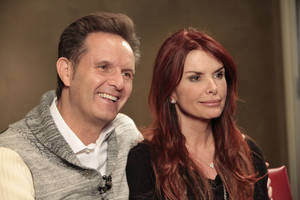 "photo - Mark Burnett and Roma Downey talk about their new TV series on the History Channel called ""The Bible"" during a visit to Edmond-based LIfeChurch.tv. Photo By David McDaniel, The Oklahoman <strong>David McDaniel - The Oklahoman</strong>"