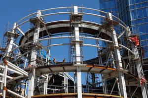 Photo - Work continues on the six-story Rotunda at Devon Energy Center.Photo by Jim Beckel, The Oklahoman