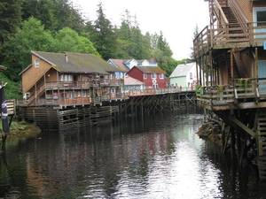 Photo - This August 2010 file photo shows a glimpse of Creek Street, a destination dotted with shops, galleries and restaurants, in Ketchikan, Alaska. This southeast Alaska town is now known more for tourism than its once-thriving timber industry.  (AP Photo/Becky Bohrer)