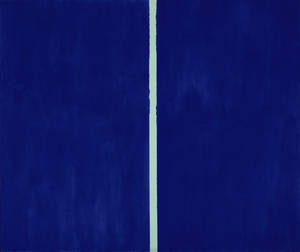 "Photo - This image released by Sothebys shows the 1953 painting ""Onement VI"" by abstract expressionist artist Barnett Newman, the last of six paintings in Newman's series. The painting is expected to bring $30 million to $40 million at a Sotheby's auction in New York on May 14, 2013. (AP Photo/Sotheby's)"