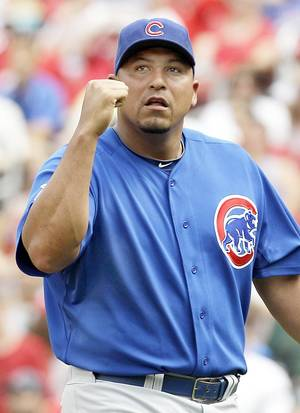 Photo - Chicago's Carlos Zambrano criticized his team's performance against St. Louis on Sunday. The Cubs lost to the Cardinals in extra innings. AP PHOTO