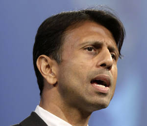 Photo -   FILE - This July 27, 2012 file photo shows Louisiana Gov. Bobby Jindal speaking in Hot Springs, Ark. The Grand Old Party needs to get with the times. That's according to many Republicans who talked of the party's challenges following the GOP's electoral shellacking. (AP Photo/Danny Johnston, File)