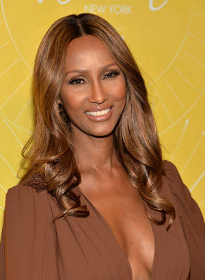 "Photo - Model Iman attends Variety's ""Power of Women: New York"" luncheon at Cipriani Midtown on Friday, April 25, 2014 in New York. (Photo by Evan Agostini/Invision/AP)"