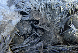 Photo - Ice crystals form frost on the window of a home in Medina, Minn., as the area experiences subzero temperatures on Monday, Jan. 21, 2013. (AP Photo/The Star Tribune, Richard Sennott)