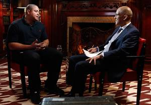 Photo - TODAY -- Pictured: (l-r) Jonathan Martin, Tony Dungy -- (Photo by: Peter Kramer/NBC)