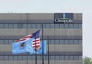 photo - One of Chesapeake's accounting buildings along Interstate 44 is shown.