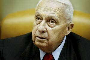 Photo - FILE -- In this Sunday Jan. 30, 2005 file photo, Israeli Prime Minister Ariel Sharon pauses during the weekly cabinet meeting in his Jerusalem office. On Wednesday, Jan. 1, 2014 the condition of the comatose former Israeli Prime Minister Ariel Sharon has taken a turn for the worse, the hospital treating him said Wednesday. Sharon, 85, has been in a coma since 2006 when a devastating stroke incapacitated him at the height of his political power. (AP Photo/Oded Balilty, Pool, File)