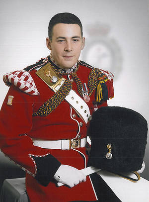 "Photo - In this undated image released Thursday May 23, 2013, by the British Ministry of Defence, showing Lee Rigby known as 'Riggers' to his friends, who is identified by the MOD as the serving member of the armed forces who was attacked and killed by two men in the Woolwich area of London on Wednesday.  The Ministry web site included the statement ""It is with great sadness that the Ministry of Defence must announce that the soldier killed in yesterday's incident in Woolwich, South East London, is believed to be Drummer Lee Rigby of 2nd Battalion The Royal Regiment of Fusiliers."" (AP Photo / MOD)"
