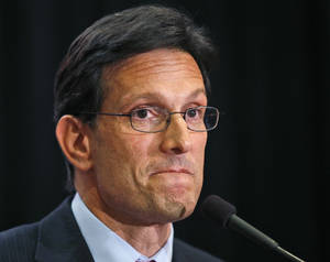 Photo - House Majority Leader Eric Cantor, R-Va., delivers a concession speech in Richmond, Va., Tuesday, June 10, 2014. Cantor lost in the GOP primary to tea party candidate Dave Brat. (AP Photo/Steve Helber)