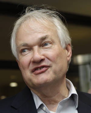 "photo - FILE - Donald Fehr, executive director of the NHL Players Association, speaks to reporters about on going labor talks with the league outside the NHL headquarters in New York, in this July 31, 2012 file photo. Donald Fehr and the players' association are ready to get back to the bargaining table at any moment. They are now just waiting for the NHL to feel the same way. ""(We aren't talking) because the owners have not indicated a desire to resume,"" the NHLPA's executive director said Wednesday night Dec. 19, 2012 before a charity hockey game.   (AP Photo/Kathy Willens, File)"