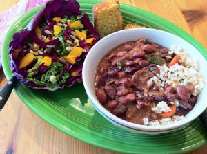 Photo - Texmati Brown Rice is a quicker red beans and rice recipe. Serve with a festive Mardi Gras salad to brighten the table on Fat Tuesday. Photo by Sherrel Jones, The Oklahoman <strong></strong>