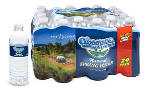 "Photo - This product image provided Monday, March 17, 2014 by Absopure shows Absopure bottled water packaging designed to promote the ""Pure Michigan"" tourism campaign. Starting this month, 24 and 35 packs of Absopure Natural Spring Water sold in the Midwest will carry packaging co-branded with ""Pure Michigan."" In the coming months, other Absopure products nationally will be packaged with ""Pure Michigan"" imagery. (AP Photo/Absopure)"