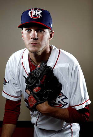 Photo - MINOR LEAGUE BASEBALL: Oklahoma City's Paul Clemens poses for a photograph during media day for the Oklahoma City Redhawks in Oklahoma City, Tuesday, April 3, 2012. Photo by Sarah Phipps, The OklahomanMINOR LEAGUE BASEBALL: