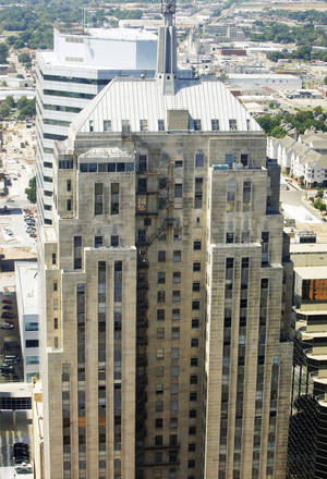 Photo - The east side of First National Center, 120 N Robinson, is seen Sept. 4 in downtown Oklahoma City. Photo by Paul B. Southerland, The Oklahoman