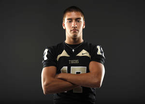 photo - HIGH SCHOOL FOOTBALL: All-State football player Levi Copelin, of Broken Arrow, poses for a photo in Oklahoma CIty, Wednesday, Dec. 14, 2011. Photo by Bryan Terry, The Oklahoman