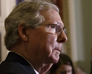 Photo -  Senate Minority Leader Mitch McConnell    <strong>J. Scott Applewhite -   </strong>