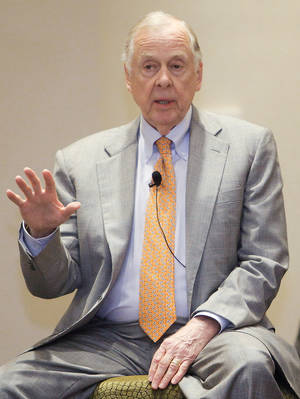 Photo - Oilman Boone Pickens is a big part of Oklahoma State athletics. Photo by Chris Landsberger, The Oklahoman
