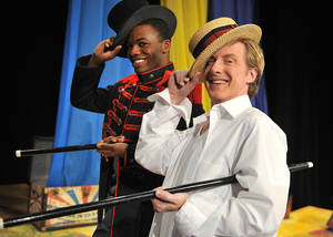"Photo - Jamard Richardson, left, and Lane Fields in ""Godspell."" Photo provided. <strong>WENDYMUTZ</strong>"
