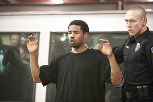 "Photo - Michael B. Jordan, left, and Kevin Durand, right, in a scene from the film, ""Fruitvale Station.""  WEINSTEIN COMPANY PHOTO <strong>Ron Koeberer</strong>"