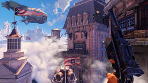 "Photo - This undated publicity photo provided by 2K Games/Irrational Games shows  a scene from the video game, ""BioShock Infinite.""  ""Infinite"" was originally set for release this year before it was pushed to Feb. 26, 2013. The game's Creative Director, Ken Levine, said Wednesday, Dec. 5, 2012, that ""Infinite"" is now scheduled for release March 26, 2013, so that the developers can polish the game even further. (AP Photo/2K Games/Irrational Games)"