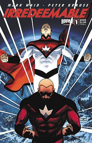 "Photo - Mark Waid and Peter Krause explore what happens when the planet's most powerful being goes bad in ""Irredeemable."" Boom! Studios Photo"