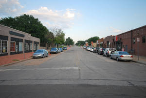 "Photo - The block of NW 7 between Walker and Hudson Avenues prior to ""Better Block OKC."" <strong>Provided</strong>"