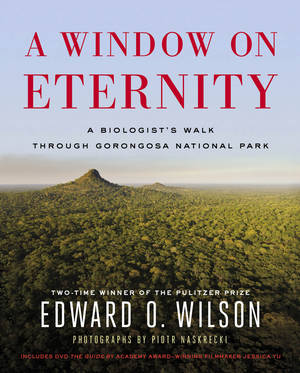 """Photo - This book cover image released by Simon & Schuster shows """"A Window on Eternity: A Biologist's Walk Through Gorongosa National Park,"""" by Edward O. Wilson. (AP Photo/Simon & Schuster)"""