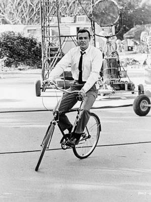"Sean Connery from the book ""Hollywood Rides a Bike."" Photo provided by Angel City Press. <strong></strong>"