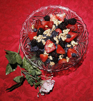Photo - Becky Varner's healthy fruit salad for Valentines Day, Friday, January 31, 2014. Photo by Doug Hoke, The Oklahoman
