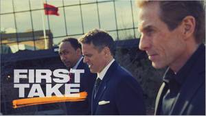 "photo - Stephen A. Smith, Jay Crawford and Skip Bayless are regulars on ESPN2's ""First Take,"" 9-11 a.m. weekdays <strong>Mangino, Marissa - ESPN Images photo</strong>"