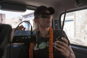 Director Kathryn Bigelow on the set of &quot;Zero Dark Thirty.&quot;