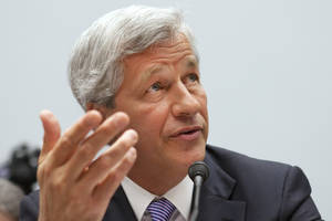 Photo -   Jamie Dimon, CEO of JPMorgan Chase, testifies before the House Financial Services Committee on Capitol Hill in Washington, on Tuesday, June 19, 2012. (AP Photo/Jacquelyn Martin)