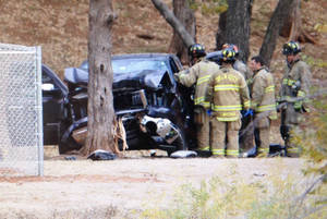 Photo - Wreck in Will Rogers Park - Photo by Steve Gooch