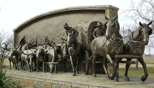 "Photo - This ""On the Chisholm Trail"" sculpture is located at Duncan's Chisholm Trail Heritage Center Museum, which is among several places statewide celebrating Oklahoma's cowboy culture. PHOTO FROM THE OKLAHOMAN ARCHIVES BY PAUL B. SOUTHERLAND, THE OKLAHOMAN <strong>PAUL B. SOUTHERLAND</strong>"