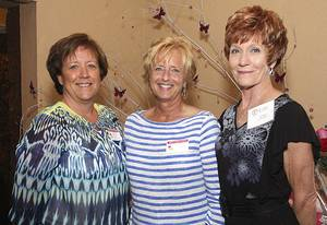 Photo - Above: Joan Privott, Sandy Marlin, Jan Rogers.