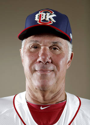 Photo - MINOR LEAGUE BASEBALL: Oklahoma City hitting coach Leon Roberts poses for a photograph during media day for the Oklahoma City RedHawks in Oklahoma City, Tuesday, April 3, 2012. Photo by Sarah Phipps, The Oklahoman