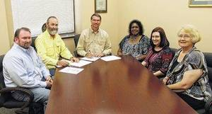 Photo - Altus City Council members shown are, from left, Jason Winters, Tom Buchanan, Mayor David Webb, Rosalyn Hall, Gina Wilson and Diane Landers. (Altus Times photo)
