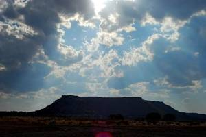 photo -  Black  Mesa is located in Oklahoma&#039;s panhandle and visitors can hike to the top of the plateau. Photo provided By Oklahoma Tourism and Recreation Dept. 