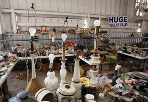 Photo - Vintage items are displayed in a booth at Col. Dick's Flea Market.
