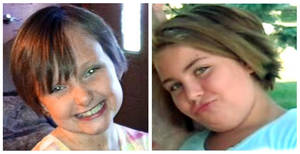 photo - This combo made from undated photos provided by the FBI shows cousins Lyric Cook, 10, right, and Elizabeth Collins, 8, who have been missing since Friday, July 13, 2012. Authorities say hunters have found bodies believed to be two young Iowa cousins who disappeared while riding their bikes in July. (AP Photo/FBI)