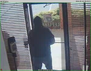 Photo -  An image from a security camera inside The Republic Bank & Trust shows the man who robbed the bank Thursday morning.  <strong></strong>