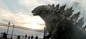 "Photo - This image released by Warner Bros. Pictures shows a scene from the film, ""Godzilla."" (AP Photo/Warner Bros. Pictures)"