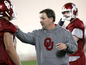 Photo - Kevin Wilson is rumored to be the next head coach at Indiana. PHOTO BY JOHN CLANTON, THE OKLAHOMAN