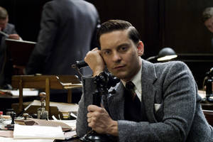 "Photo - This film publicity image released by Warner Bros. Pictures shows Tobey Maguire as Nick Carraway in a scene from ""The Great Gatsby."" (AP Photo/Warner Bros. Pictures)"