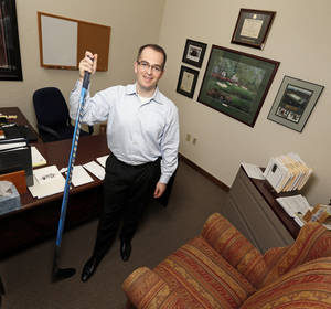 Photo - OKC Barons' general manager Bill Scott poses for a photo in his office in downtown Oklahoma City, Monday, May 20, 2013. Photo by Nate Billings, The Oklahoman