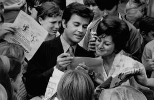"Photo - ""American Bandstand's"" Dick Clark visits Teen Town at the State Fair of Oklahoma in Oklahoma City on Sept. 22, 1969. The Oklahoman Archives"