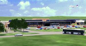 Photo - This drawing shows what a consolidated rental car facility to be built near Will Rogers World Airport. The Oklahoma City Council Tuesday authorized funding for the project, which is expected to be complete in the spring of 2015. <strong>PROVIDED</strong>