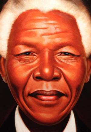 "Photo - An illustration of Nelson Mandela as shown on the cover of ""Nelson Mandela"" by Kadir Nelson.   <strong></strong>"