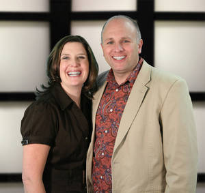 Photo - The Rev. Ted Miller, shown with his wife, Tami, is pastor of Crossroads Church .  Photo provided <strong></strong>